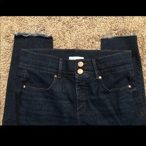 Loft High Waist Skinny Dark Wash Jeans- Size 28